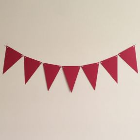 Red Wedding and Party Bunting - 4 Meter Kit